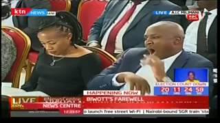 Ambassador Francis Muthaura speaks during Nicholas Biwott's funeral service