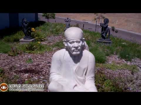SOLD White Marble Sai Baba Statue 40