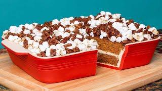GIANT Sweet Potato Marshmallow Casserole CAKE! Thanksgiving Baking | How To Cake It | Yolanda Gampp