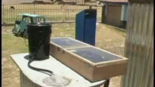 Solar heating - hot shower using bottles
