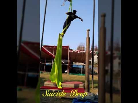 Aerial Act ( suicide drop)
