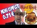 Hamburguesa del Hard Rock Cafe por 71 ctms.