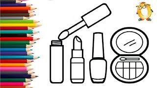 Рисуем Косметику Makeup Раскраски для Девочек Видео для Детей