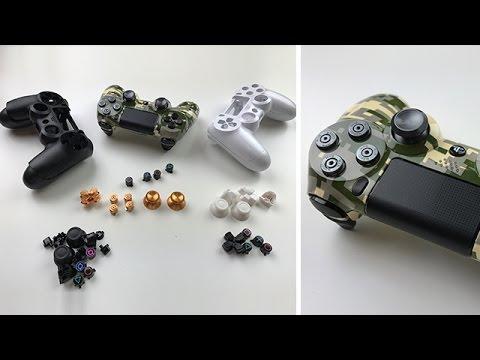 Austausch von Gehäuse + Patronen Button + Thumbsticks  -  Controller Umbau PS4 - Dr. UnboxKing