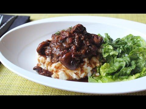 Coq Au Vin - Chicken Braised with Bacon, Mushrooms & Red Wine