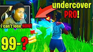 UNKNOWN *NERVOUS* in FINAL 100-0 MATCH w/ NO AIM ASSIST vs. UNDERCOVER PRO PLAYER! (Fortnite)