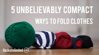 5 AMAZINGLY Compact Ways to Fold Clothes for Packing