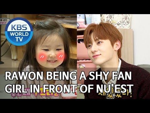 Rawon being a shy fan girl in front of NU'EST [The Return of Superman/2019.12.08]