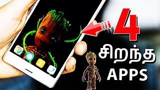 Gambar cover 4 சிறந்த APPS | Top 4 Best Apps for Android - Tech Tips Tamil