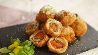 マンマミーア!チーズ溶け出すひとくちマルゲリータかつのレシピ作り方