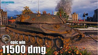 ИС-7 классный бой 11500 dmg 🌟 ЛБЗ ТТ-15 на Об 260 🌟 World of Tanks gameplay
