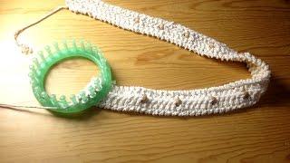 How to Loom Knit a Faux Macrame Belt (DIY Tutorial)