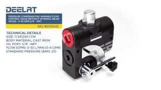 Pressure-Compensating Variable Flow Control Valve(without internal relief valve)-0-30GMP,3/8