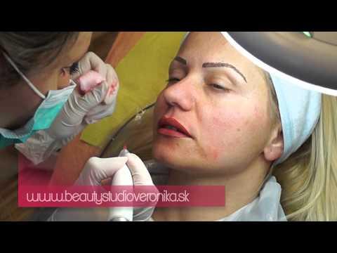 Permanentný make-up pier kontúra s plným vytieňovaním - Veronika Kocianová