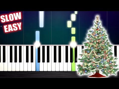 O Christmas Tree - SLOW EASY Piano Tutorial by PlutaX