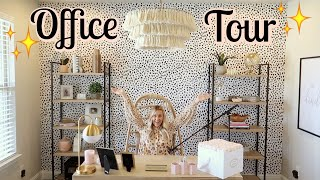 MY NEW OFFICE REVEAL + TOUR! | BOHO OFFICE DECOR | Tara Henderson