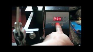 How to set up the common heat press and using the buttons Jen Blausey