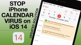 How to Delete iPhone spam calendar virus iOS 14/Remove Calendar virus on iOS 14.