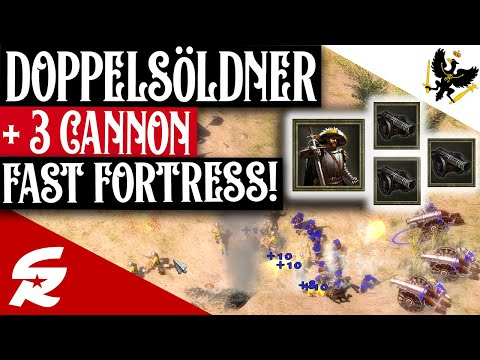 3 Cannon Doppelsöldner Fast Fortress!! | Strategy School | Age of Empires III