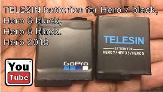TELESIN GoPro batteries for Gopro Hero 7 Black & Hero 6 Black, Hero 5 Black, Hero 2018