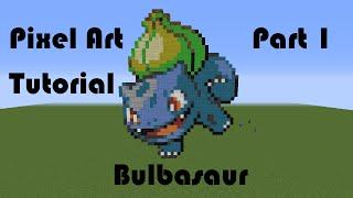 Kanto Pokemon Pixel Art Tutorial 1 - Bulbasaur (By Kidduff1)