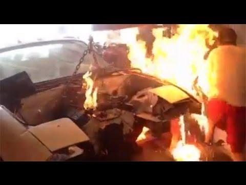 Download Chevy 350 miata drift car fire HD Mp4 3GP Video and MP3