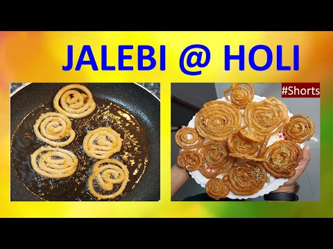 Jalebi at Holi | #Shorts | Jalebi Recipe Cooking