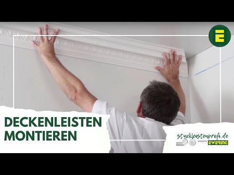 Profilleisten-Montage-Video NMC Stuckleisten Deckenleiste - Ewering stuckleistenprofi.de