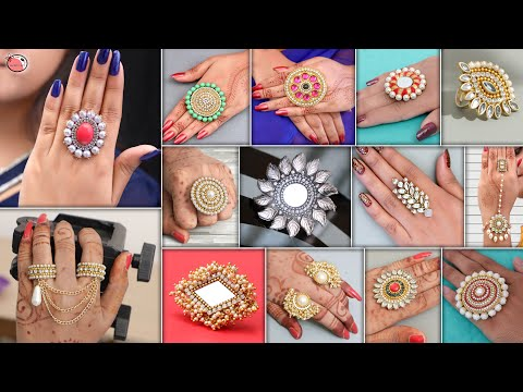 Girls Party Wear ! 16 Designer Finger Rings For Gown Dresses & Crop Top