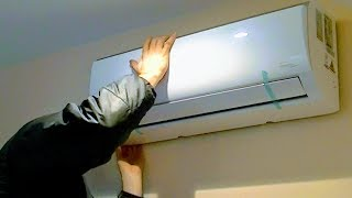 AIR CONDITIONER DETAIL INSTALL |SPLIT DUCTLESS AC HEATING INVERTER,MINI PUMP SYSTEM SETUP,DIY HOW TO