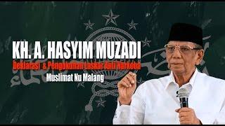KH Hasyim Muzadi  Deklarasi Dan Pengukuhan Laskar Anti Narkoba