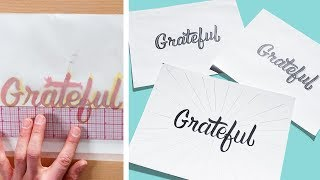 Tracing & Transferring Words to Paper | Hand Lettering for Beginners