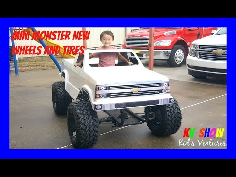 Mini Monster Truck Getting Tires And Wheels! Fun Toys For Kids!