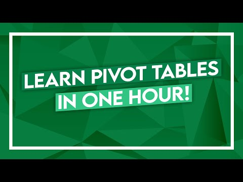 Pivot Table Tutorial - Learn PivotTables in 1 Hour - Excel Crash Course