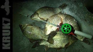 Зимняя ночная рыбалка на карася