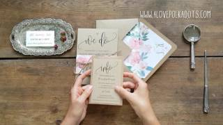 WE DO Rustic Wedding Invitations