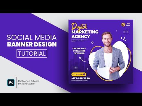 Digital Marketing Agency Social Media Post and Square Flyer Design   Photoshop Tutorial