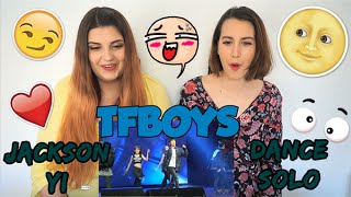 TFBOYS - JACKSON YI (易烊千玺) DANCE SOLO REACTION ~Andie & Carlie~