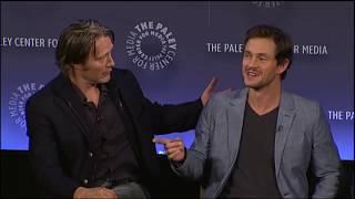 2 Horses - Mads Mikkelsen And Hugh Dancy On PaleyFest 2014 (Madancy Moment)