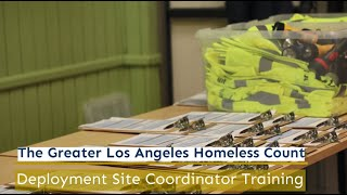 Homeless Count Deployment Site Coordinator Training