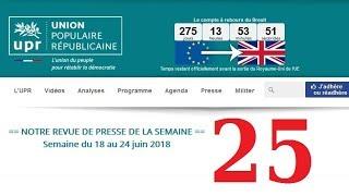 Revue de Presse UPR semaine n°25