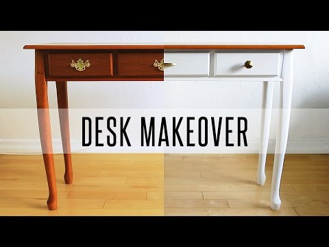 DIY DESK MAKEOVER - HOW TO PAINT FURNITURE Mp3