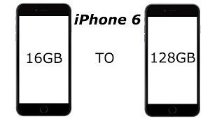 iPhone 6 Storage Upgrade to128GB (4K)