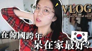 [韓國日常] 陪我過2018最後一天!宅在家做什麼、超市採買、만두不舒服、DIY調酒 |Lizzy Daily