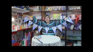 Гирлянда-растяжка ко дню рождения: мастер-класс Ирины Христолюбовой.