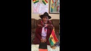 Declaraciones de Savina Cuelar, líder indígena boliviana