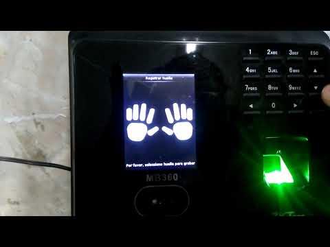 Uso de Biométrico (ZKTeco MB360) - Agregar Personal