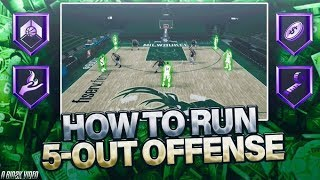 *TUTORIAL* HOW TO RUN A 5-OUT AND GET FLOOR SPACING! BEST PLAYBOOK & FREELANCE! NBA 2K20