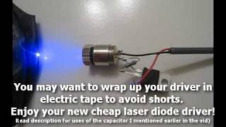 DIY: Make a $3 Laser Diode Driver!