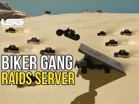 Space Engineers - Biker Gang Attacks & Raids Players